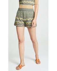 M Missoni - Pull On Shorts - Lyst