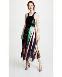 Tibi - Beaded Sequin Overall Dress - Lyst