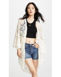 Free People - Move Over Lace Robe - Lyst