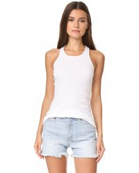 Splendid - 2x1 Racer Back Tank Top - Lyst
