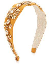 NAMJOSH - Crystal Embellished Headband - Lyst