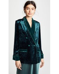 F.R.S For Restless Sleepers - Velvet Stripe Blazer - Lyst