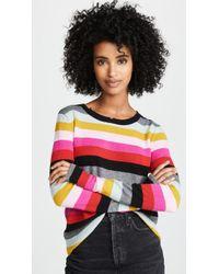Pam & Gela - Multi Stripe Crew Neck Sweater - Lyst