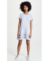Wilt - Tee Dress With Lace Ruffle Trim - Lyst
