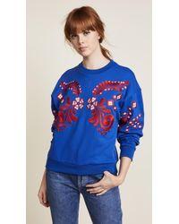 Cynthia Rowley - Bleecker Embroidered Sweatshirt - Lyst