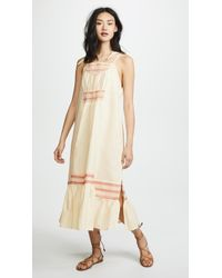Free People - Another Love Smocked Midi Dress - Lyst