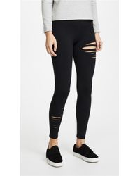 David Lerner - Half Ripped Leggings - Lyst