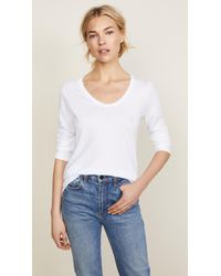 Splendid - Very Light Jersey Scoop Neck Tee - Lyst