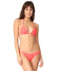 Baja East - Triangle Bikini Top - Lyst