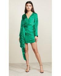 93fab0d9149be1 Michelle Mason - Long Sleeve Wrap Dress - Lyst