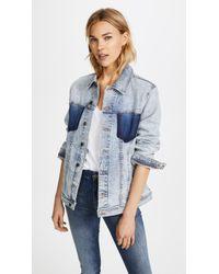 L'Agence - Karina Oversized Jean Jacket - Lyst