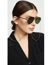 Stella McCartney - Double Bridge Pilot Sunglasses - Lyst