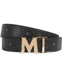 MCM - Gold M Buckle Reversible Belt - Lyst