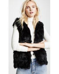Adrienne Landau - Fur Accent Vest - Lyst