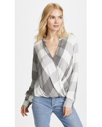 Splendid - Murray Plaid Blouse - Lyst