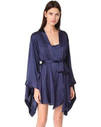 Nüdwear - Silk Kimono Robe - Lyst