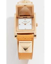 What Goes Around Comes Around - Hermes Yellow Epsom Medor Watch, 23mm - Lyst