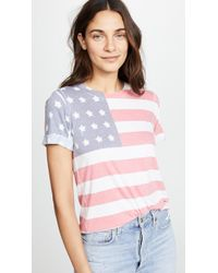 Sol Angeles - Freedom Rolled Tee - Lyst