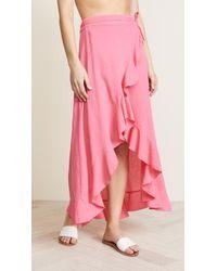 9seed - Solana Wrap Skirt - Lyst