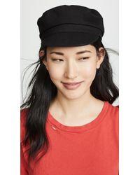 ea1690ff ... Striped Linen Captain's Hat - Lyst. Isabel Marant - Evie Cotton Hat -  Lyst