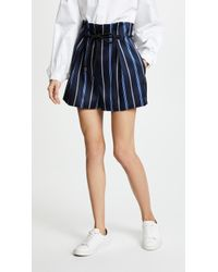 3.1 Phillip Lim | Striped Origami Shorts | Lyst