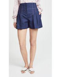 Rebecca Taylor - Linen Blend Shorts - Lyst