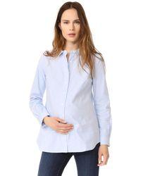 Rosie Pope - Classic Maternity Shirt - Light Blue - Lyst
