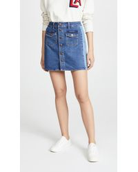 Madewell - Beverly Pieced Jean Skirt - Lyst