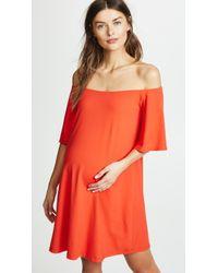 Susana Monaco - Off Shoulder Maternity Dress - Lyst