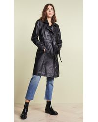 Blank NYC - Vegan Leather Trench Coat - Lyst