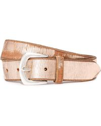 B. Belt - Metallic Twill Print Belt - Lyst