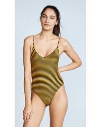 Les Girls, Les Boys - Stripe Swimsuit One Piece - Lyst