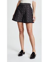 Victoria, Victoria Beckham - Front Pleat Shorts - Lyst