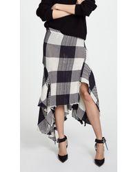 Marques'Almeida - Asymmetric Draped Skirt - Lyst