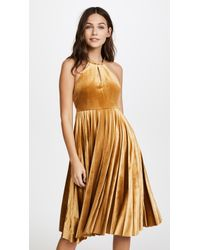 Endless Rose - Strappy Velour Pleated Dress - Lyst