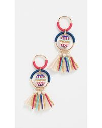 Rebecca Minkoff - Blair Beaded Ball Statement Earrings - Lyst