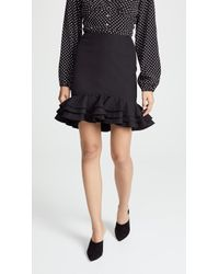 C/meo Collective - Petition Ruffle Hem Mini Skirt - Lyst