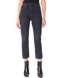 Agolde - Riley High Rise Slim Crop Jeans - Lyst
