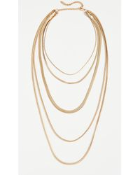 Luv Aj - The Cascading Snake Chain Necklace - Lyst