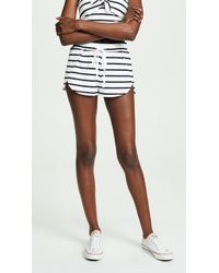BB Dakota - Striped Overlap Shorts - Lyst