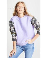 Michaela Buerger - Scandanavian Jacquard Sleeve Sweatshirt - Lyst