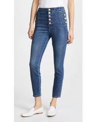J Brand - Natasha Sky High Cropped Skinny Jeans - Lyst