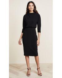 Badgley Mischka - Long Sleeve Dress - Lyst