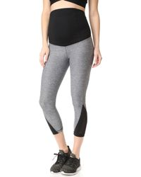 Ingrid & Isabel - Active Mesh Detail Capri With Crossover Panels - Lyst