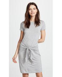 Three Dots - Big Sur Stripe Tie Front Dress - Lyst