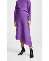 Tibi - Ribbed Merino Wool Asymmetrical Skirt - Lyst
