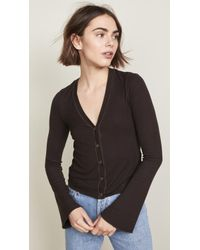 Three Dots - Cropped Cardigan With Flared Sleeves - Lyst