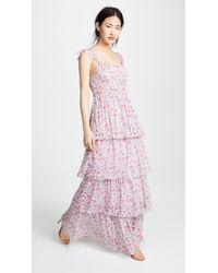 Valencia & Vine - Noelle Tiered Gown - Lyst