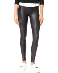 Spanx - Faux Leather Moto Leggings - Lyst