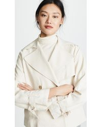 Vince - Cropped Trench Coat - Lyst